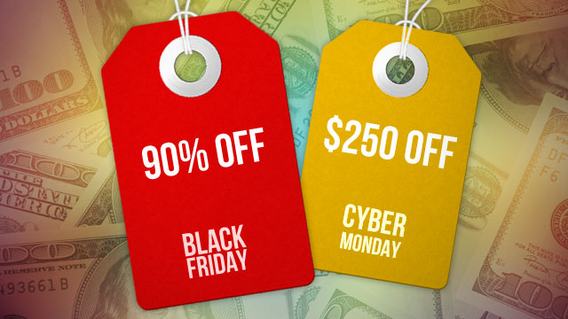 Black Friday 23 Nov and Cyber Monday 26 Nov